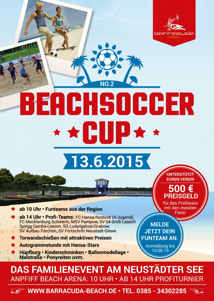 Plakat Barracuda Beachsoccer-Cup 2015