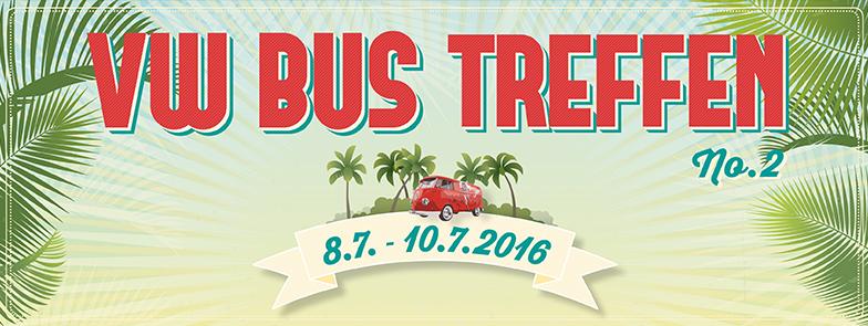 Titelbild VW Bus Treffen 2016 Barracuda Beach