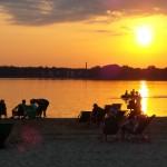 Sonnenuntergang am Beach