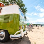 VW Bus Treffen am Barracuda Beach Shooting am Strand