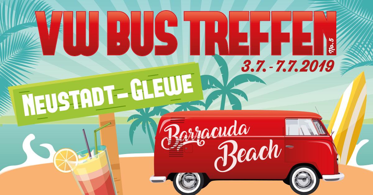 Vw Bus Treffen Am Barracuda Beach
